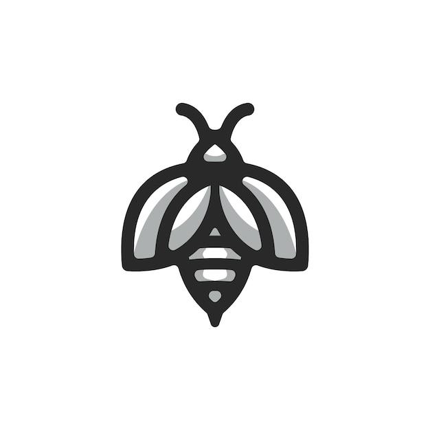 Пчела логотип вектор Premium векторы