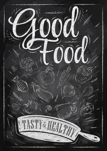 ポスターの良い食べ物 Premiumベクター