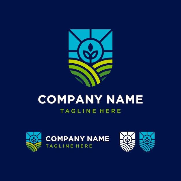 Логотип сельского хозяйства Premium векторы