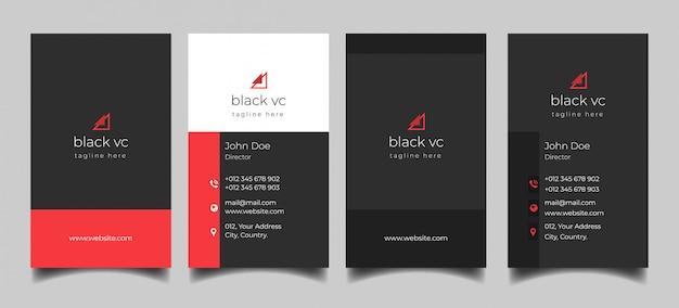 Чистая вертикальная визитка Premium векторы