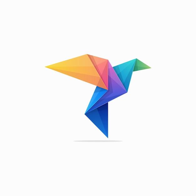 抽象的な紙鳩コンセプトイラストベクトルデザインテンプレート Premiumベクター