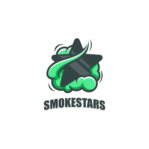 抽象的な煙と星のイラストベクターデザインテンプレート Premiumベクター
