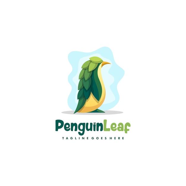 ペンギンの葉イラストベクターデザインテンプレート Premiumベクター