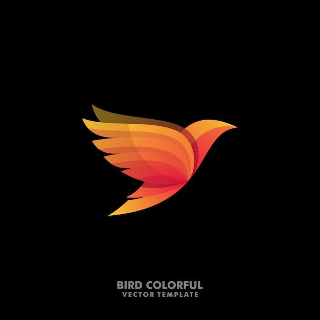 鳥コンセプトデザインイラストベクトルテンプレート Premiumベクター