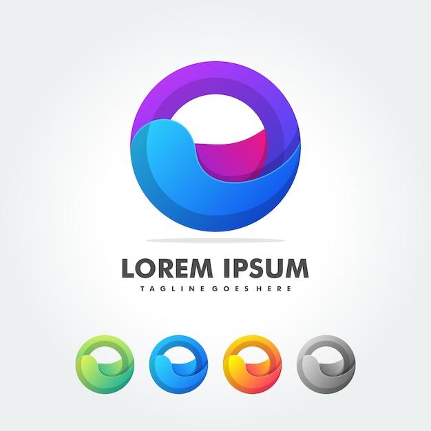 トレンディなロゴの抽象的な形 Premiumベクター