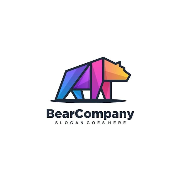 Медведь сильный разноцветный вектор шаблон Premium векторы