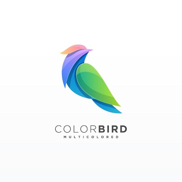 Птица красочный дизайн Premium векторы