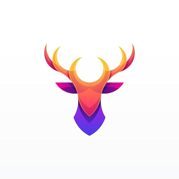 抽象的な鹿イラストデザイン Premiumベクター