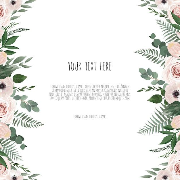 ベクトル花柄カード Premiumベクター