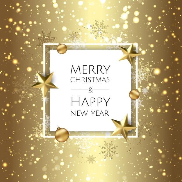 С новым годом и рождеством Premium векторы