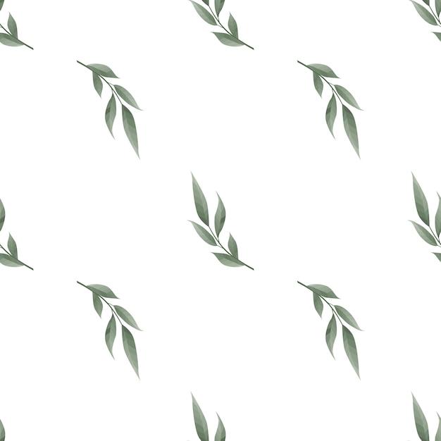 シームレスな葉模様 Premiumベクター