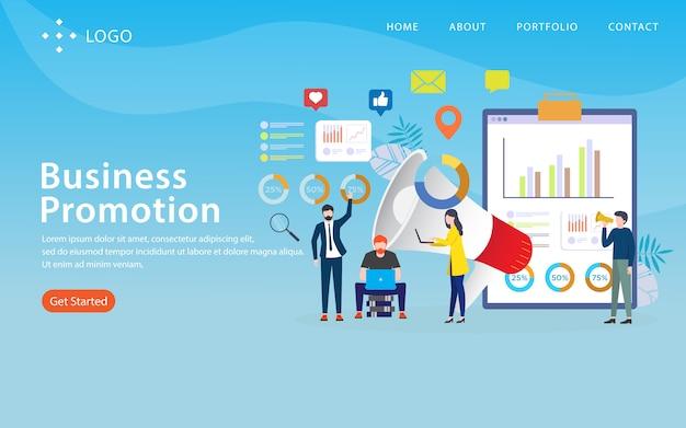 事業推進、ウェブサイトのテンプレート、階層化、編集およびカスタマイズが容易、イラストのコンセプト Premiumベクター