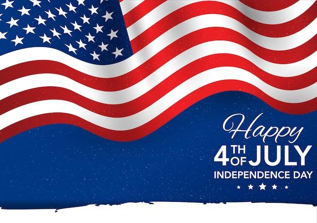 День независимости четвертого июля. флаг иллюстрация Premium векторы