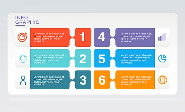現代のビジネスのインフォグラフィック Premiumベクター