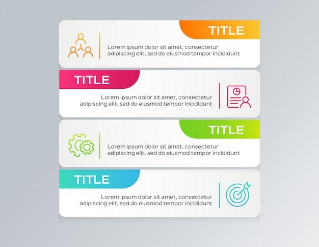 インフォグラフィックテンプレートデザイン Premiumベクター