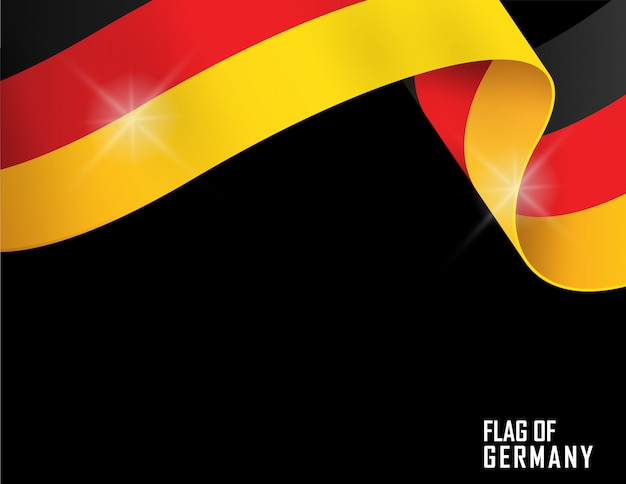 ドイツ国旗リボン形 Premiumベクター