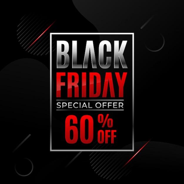 Черная пятница продажа баннер шаблон. Premium векторы