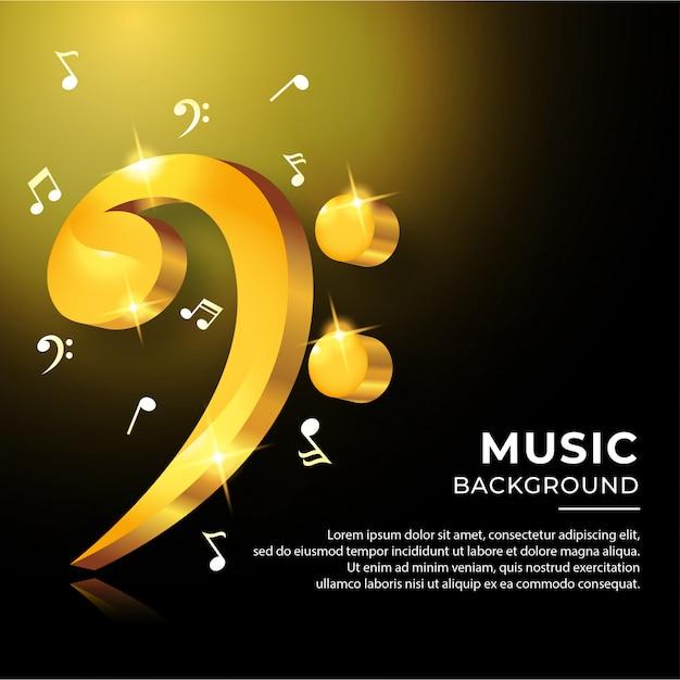 カラフルな音符音楽コードバナー Premiumベクター