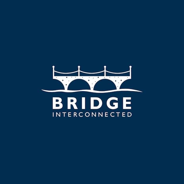 シルエットブリッジロゴ Premiumベクター