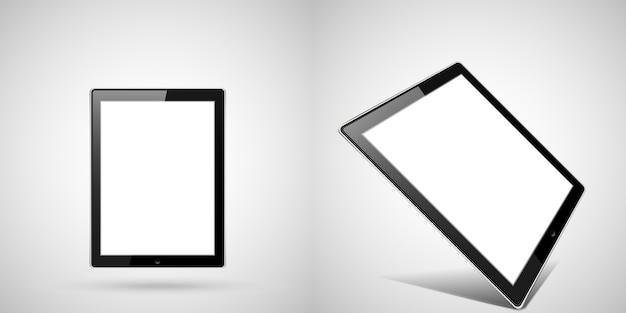 タブレット等尺性イラスト設定装置。 Premiumベクター