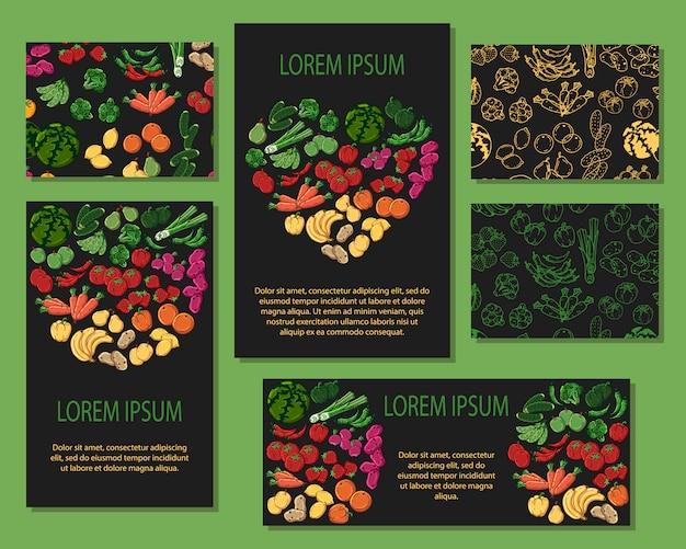 野菜カード Premiumベクター