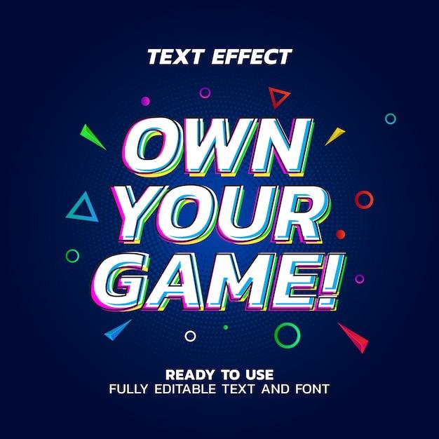 Эхо текстовый эффект вектор шаблон Premium векторы