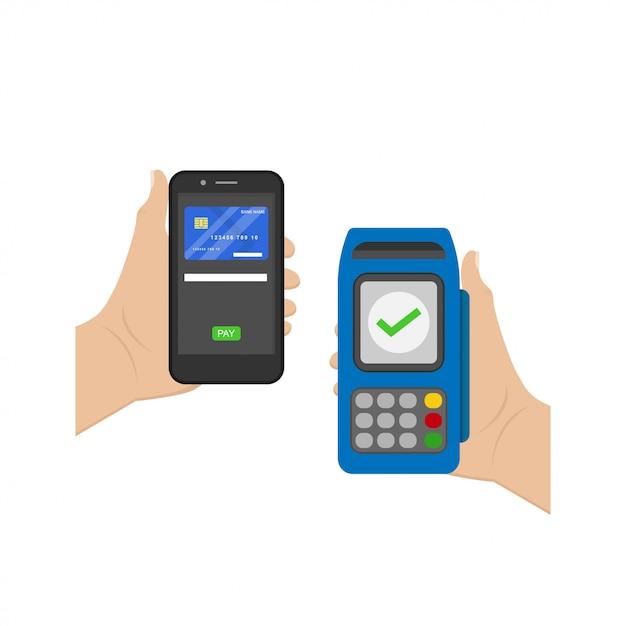Бесконтактный платеж Premium векторы