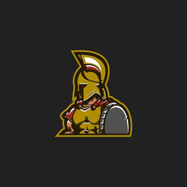 スパルタンマスコットロゴのコンセプト Premiumベクター