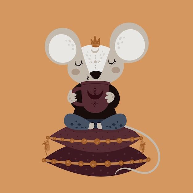 Мышь с мышкой Premium векторы