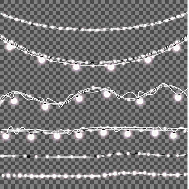 Сверкающие лампочки Premium векторы