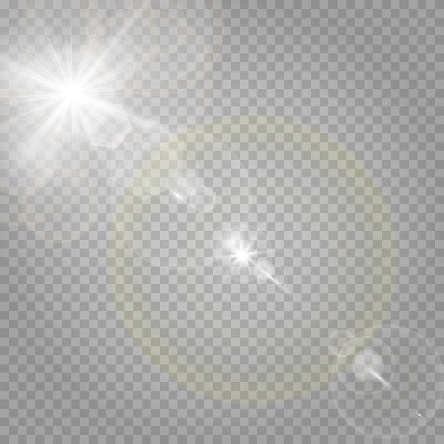 輝く星と輝くグレア Premiumベクター