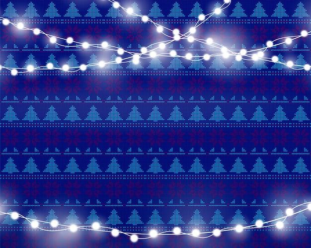 Рождественские огни изолированы Premium векторы