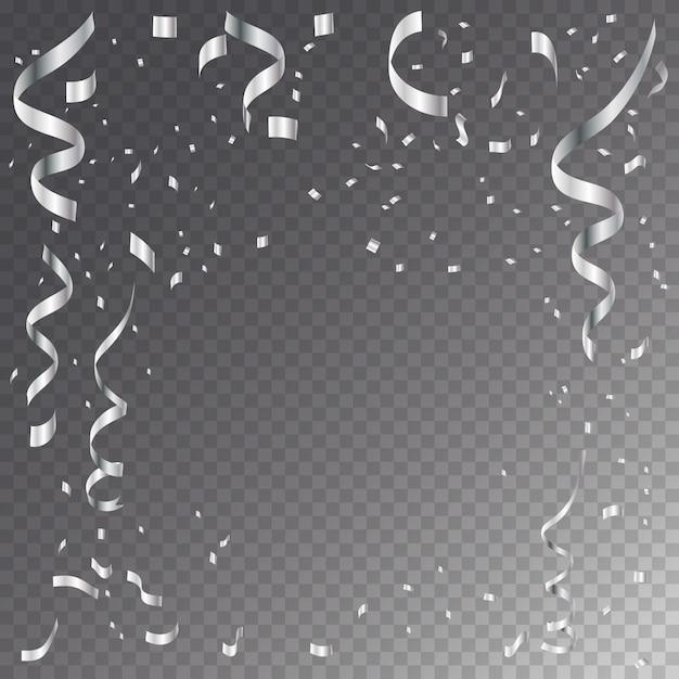 市松模様の背景に分離された蛇紋岩の銀。 Premiumベクター