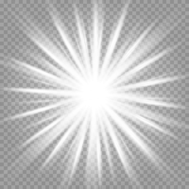 チェス盤の上の透明な白と灰色の背景上の星のセットです。 Premiumベクター