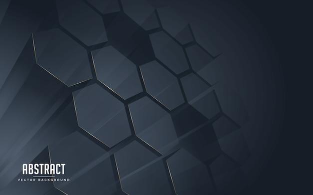Абстрактный фон геометрический черный и золотой цвет линии. Premium векторы