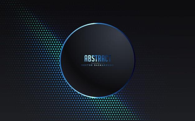 豪華な黒と青の色と抽象的な背景 Premiumベクター
