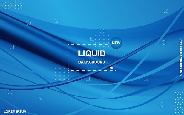 液体の色の背景流体グラデーション形状の構成 Premiumベクター
