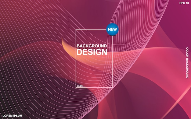 抽象的な液体色背景デザイン。流体グラデーション形状の構成 Premiumベクター