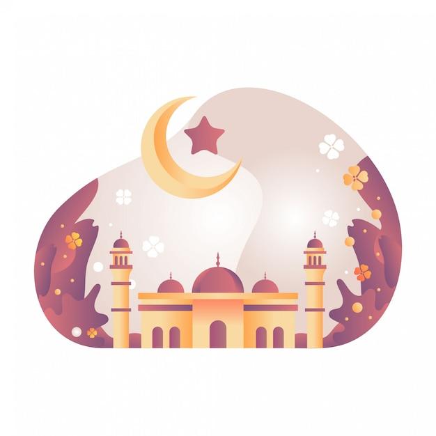 モスクの図 Premiumベクター