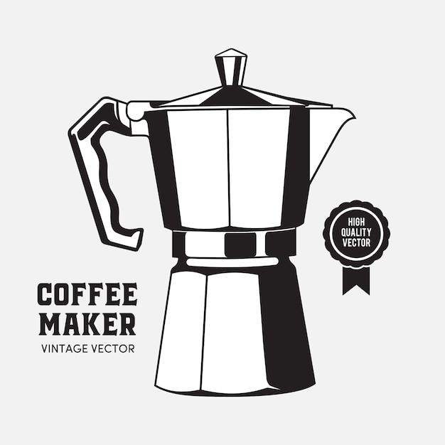 コーヒーメーカーモカポット Premiumベクター
