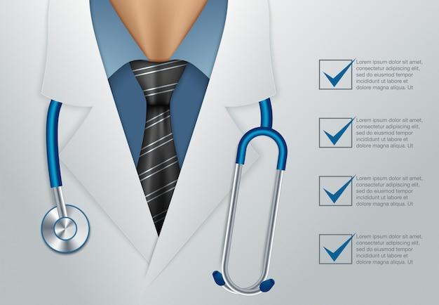 医者をクローズアップ Premiumベクター