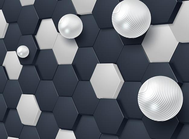 抽象的な六角形の背景 Premiumベクター