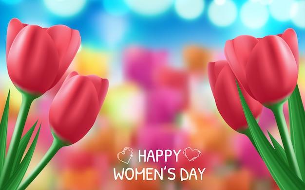 Фон для международного женского дня. Premium векторы