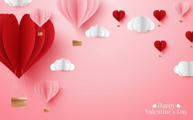Иллюстрация с днем святого валентина Premium векторы