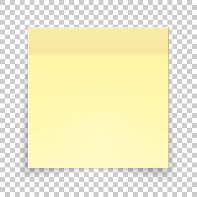 黄色い紙の粘着片、ステッカーメモ。 Premiumベクター