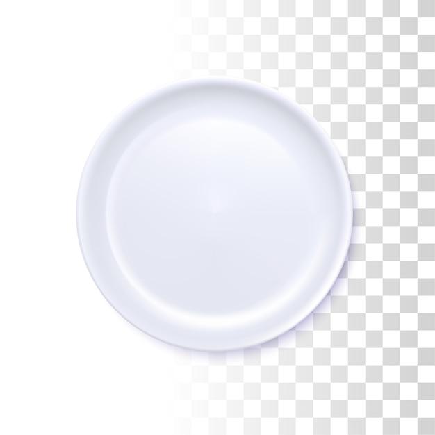 ホワイトラウンドプレート Premiumベクター