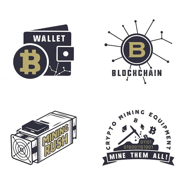 デジタル資産ロゴ Premiumベクター