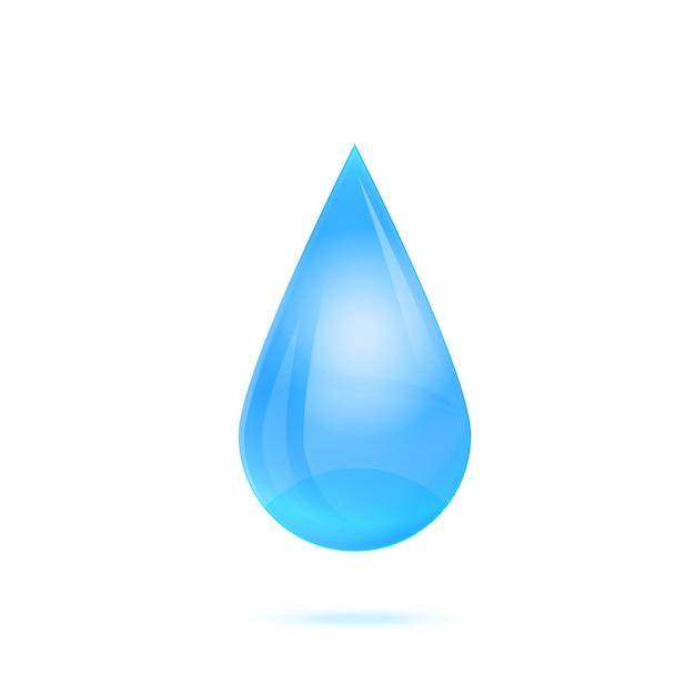 白で隔離される水の滴 Premiumベクター