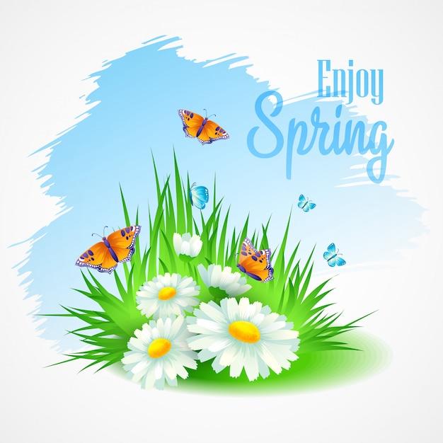 春の挨拶 Premiumベクター