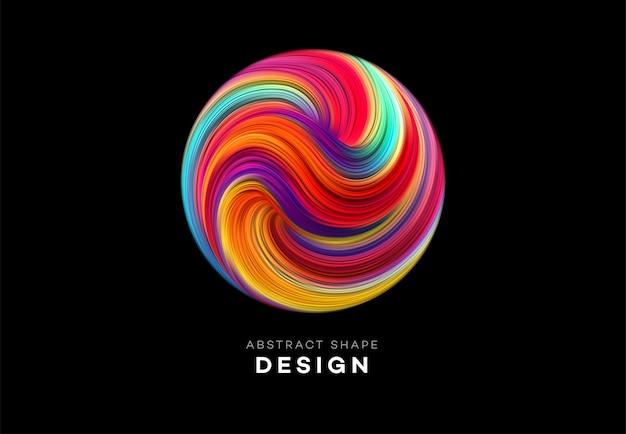 Цвет потока абстрактный фон формы Premium векторы
